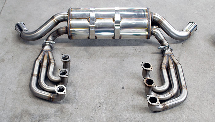 "Prototype of 247631 Manifold Right - Left ""Racing"" + 247704 Rear exhaust Right - Left O70"