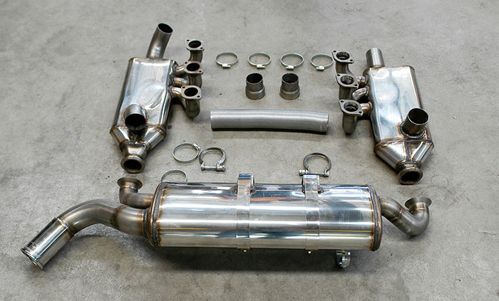 247601 Manifold Right - Left (With heat exchangers) + 247604 Rear exhaust O70