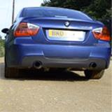 "BMW E90 Sedan 335d (286 Hp) -> Supersprint Turbo downpipe kit (Replace diesel-soot filter) + rear exhausts ""Racing"""