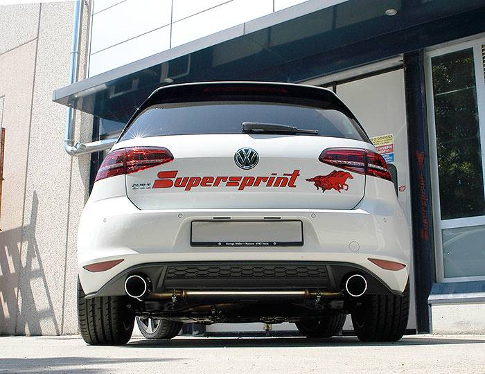 Supersprint full exhaust system: 889621 + 889603 + 889604 + 855824