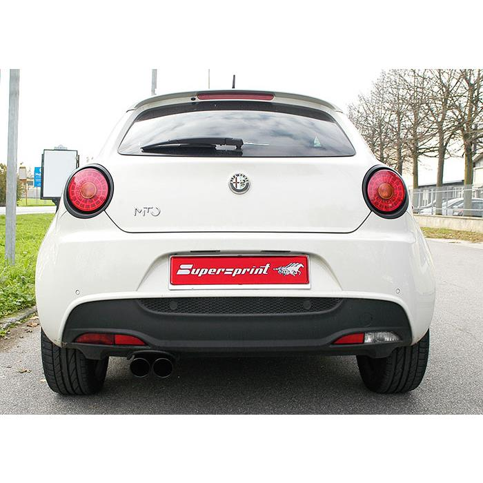 Rear Exhaust OO80 BLACK ENDPIPES For Alfa Romeo MiTo 1.4i