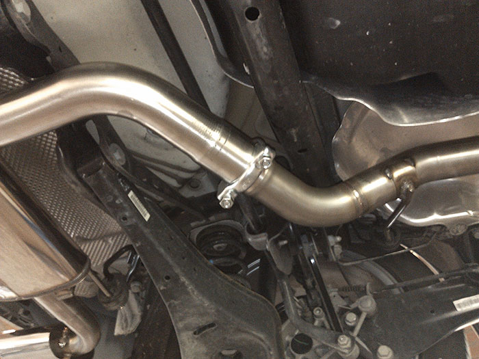 767513 Centre pipe (Replaces OEM centre exhaust)  enlarged to Ø65mm to be fitted with 888504 R muffler