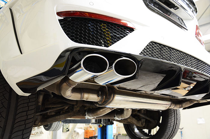 Prototype of 849404 Rear exhaust Right - Left + 849427 Endpipes kit 120x80 Right - 120x80 Left