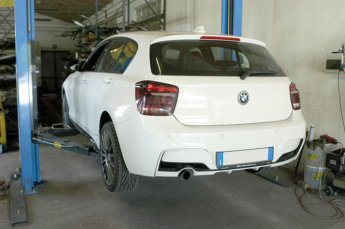BMW F20 / F21 118i 1.6T (170 Hp) 2013 -> Stock exhaust system