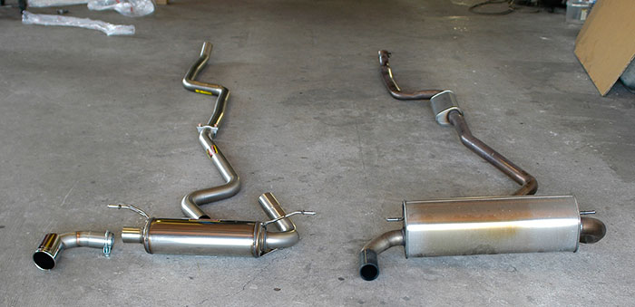 Supersprint Catback system VS Stock