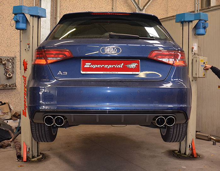 AUDI A3 8VA Sportback 2.0 TDI (150 Hp) –› 770604 Rear exhaust + 765926 Endpipe kit OO90