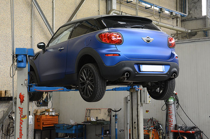 BMW MINI Cooper S Paceman ALL4 1.6i Turbo 2013 –› stock exhaust system