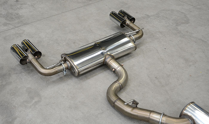 Prototype of 771804 Rear exhaust + 771826 Endpipe kit Right OO90 - Left OO9