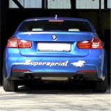 "BMW F30 335i xDrive (306 Hp) -> Supersprint ""Twin Pipe Design"" exhaust system"