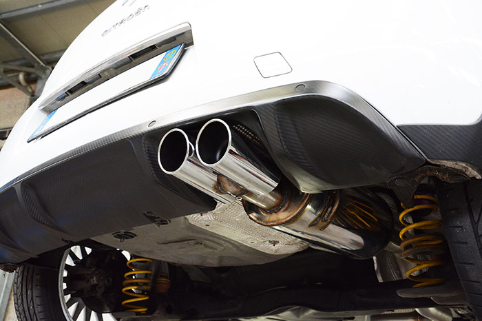 805404 Rear exhaust 100% Stainless steel + 805416 Endpipe kit OO80