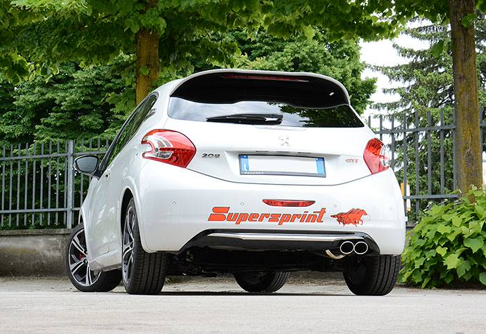 Full Supersprint exhaust system: 805711 + 805732 + 805703 + 805704 + 805717