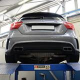 New Supersprint performance exhaust for Mercedes A45 AMG in development