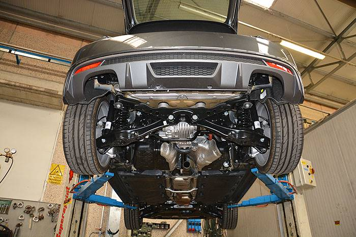 Audi S1 Sportback stock exhaust
