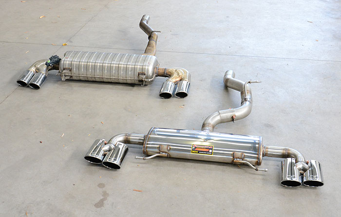 Audi S1 Sportback - Supersprint sport exhaust 773904 + 771727 vs Stock