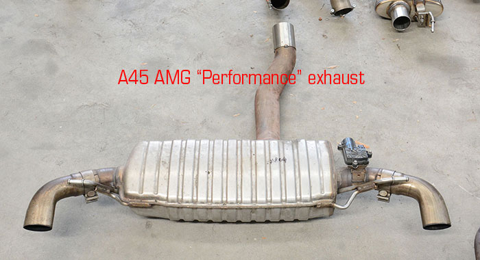"Stock rear exhaust ""Performace"""
