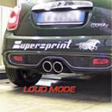 MINI Cooper S F56 2.0T (192 Hp) '14 -> Supersprint full exhaust system (rear muffler with valve) - Test