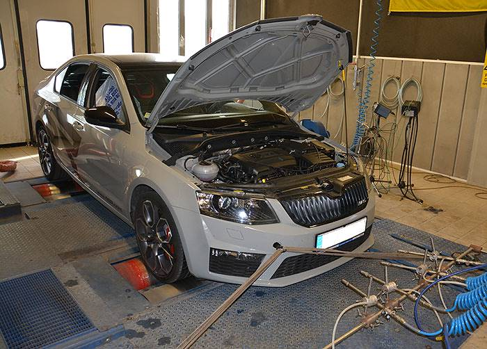 SKODA OCTAVIA RS 2.0 TSI (220 Hp) 2013 –› Dyno run