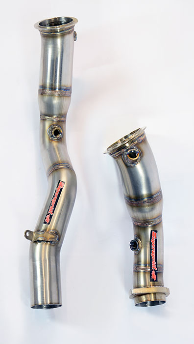 Prototype of 989611 Turbo downpipe kit Right - Left (Replaces catalytic converter)