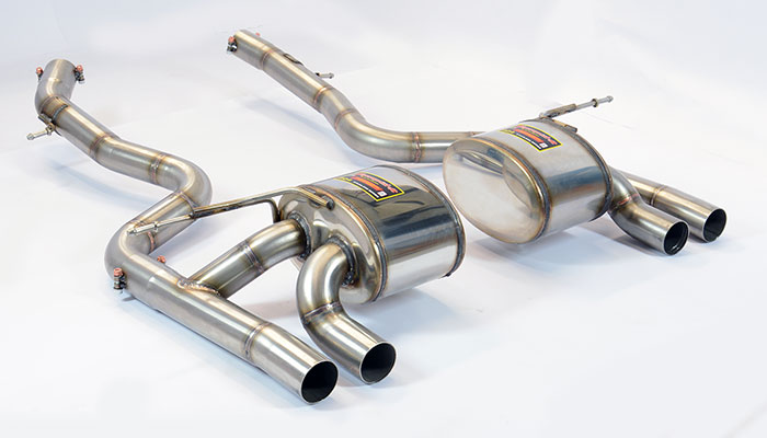 Prototype of 989634 + 989604 Rear exhaust right + left