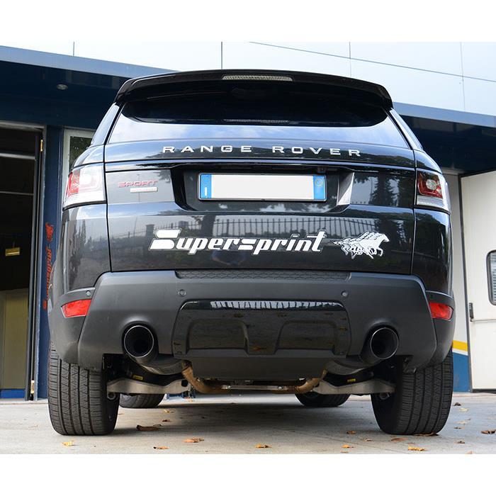 Rear Exhaust Left Black O120 For RANGE ROVER SPORT 5.0i V8