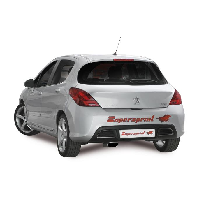 peugeot 308 thp 1 6 16v 150 156 hp hatchback 39 08 39 13 peugeot exhaust systems. Black Bedroom Furniture Sets. Home Design Ideas