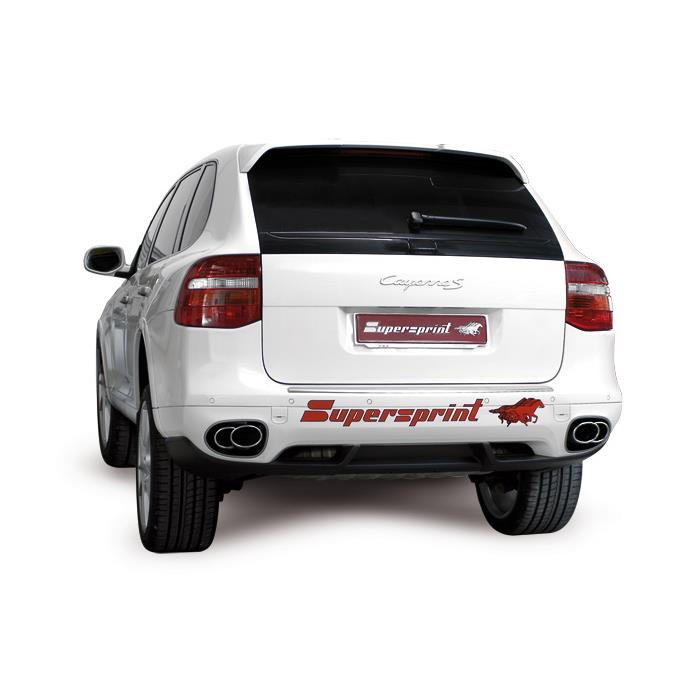 Porsche - PORSCHE 957 CAYENNE 3.6i V6 (290 Hp)  2007 -> 2010 Endpipe kit 2 exit Right 120x80-100x75 - 2 exit Left 120x80-100x75<br>(For OEM rear bumper), performance exhaust systems