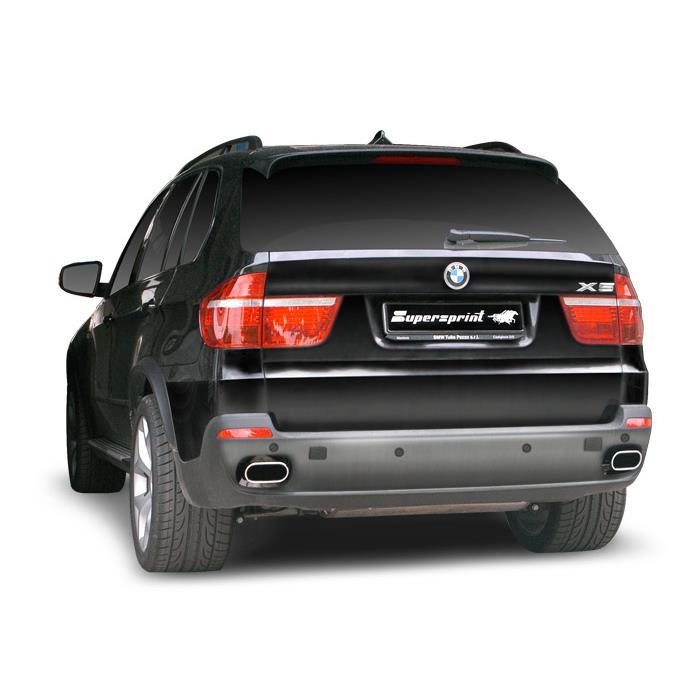 BMW E70 X5 4 8i V8 -> Supersprint rear exhaust, Homemade videos