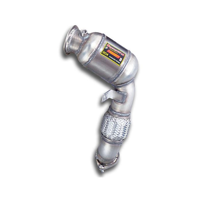 BMW - BMW F01 / F02 / F03 750i xDrive V8 '09 -> 2012 Turbo downpipe kit +  Metallic catalytic converter Left, performance exhaust systems
