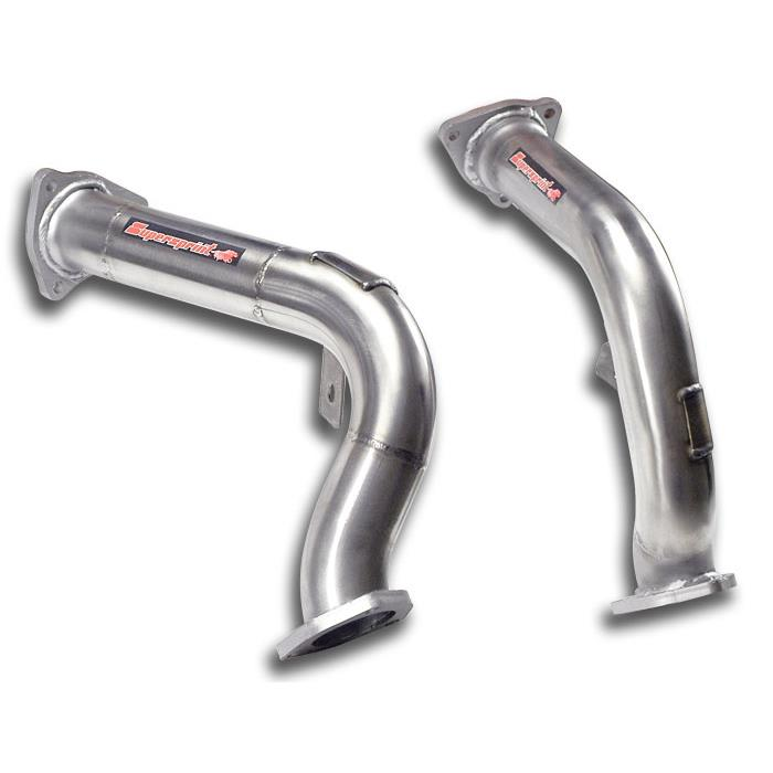 Audi - AUDI A7 SPORTBACK QUATTRO 2.8 FSI V6 (204 Hp) '10 -> '14 Downpipe kit Right + Left<br>(Replaces OEM catalytic converter), performance exhaust systems