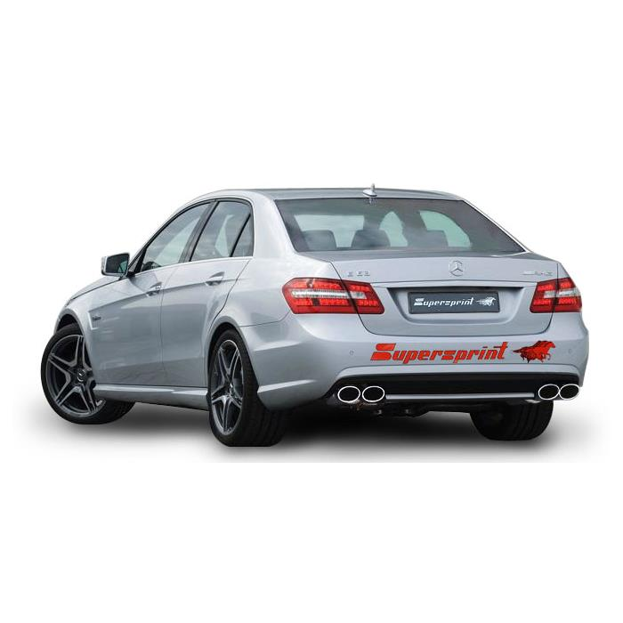 Performance sport exhaust for MERCEDES W212 E 63 AMG, MERCEDES W212