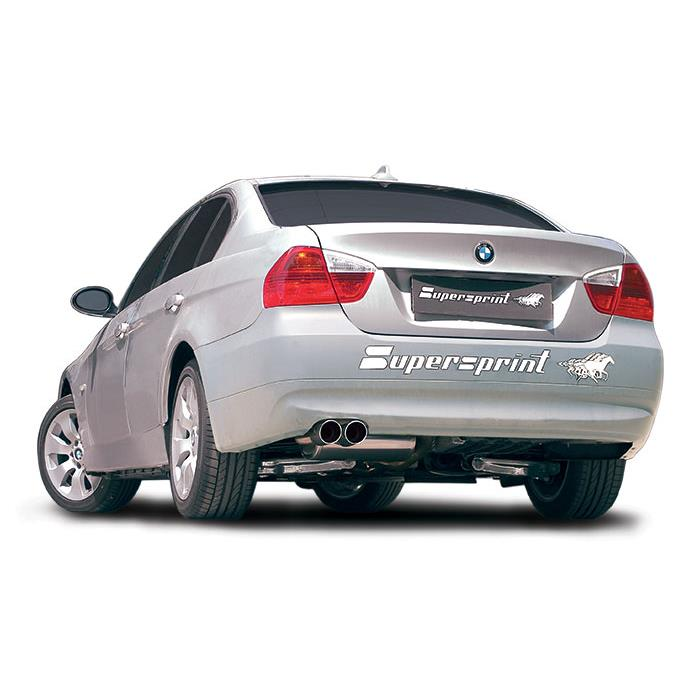 bmw e90 sedan 318d m47 122 hp 2005 2007 bmw exhaust systems. Black Bedroom Furniture Sets. Home Design Ideas