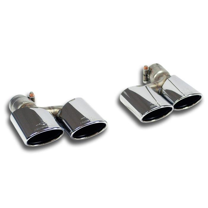 Mercedes - MERCEDES W204 C 350 CGI V6 (M272 3.5L - 292 Hp / 306 Hp) '08 ->'14 Endpipe kit Right - Left 120x80, performance exhaust systems