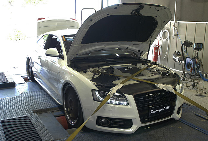 A5 3.0 TDI 239 hp with Supersprint sport exhaust  - dyno testing with turbo downpipe 767231 and rear pipes 767214 + 767224