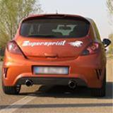 "OPEL CORSA D OPC ""Nürburgring"" 1.6i Turbo (211 Hp) 2011 -> Supersprint Abgasanlage"