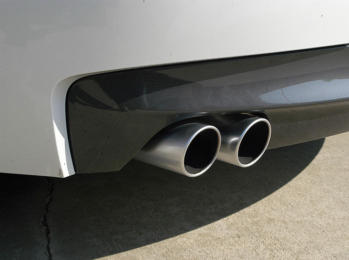 Satin finish exit pipes