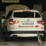 BMW F25 X3 35i 2011 -> Supersprint Abgasanlage (Dyno)