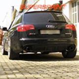 AUDI A6 RS6 Quattro 5.0i Bi - turbo V10 ' 08 -> Supersprint Komplett-Auspuffanlage