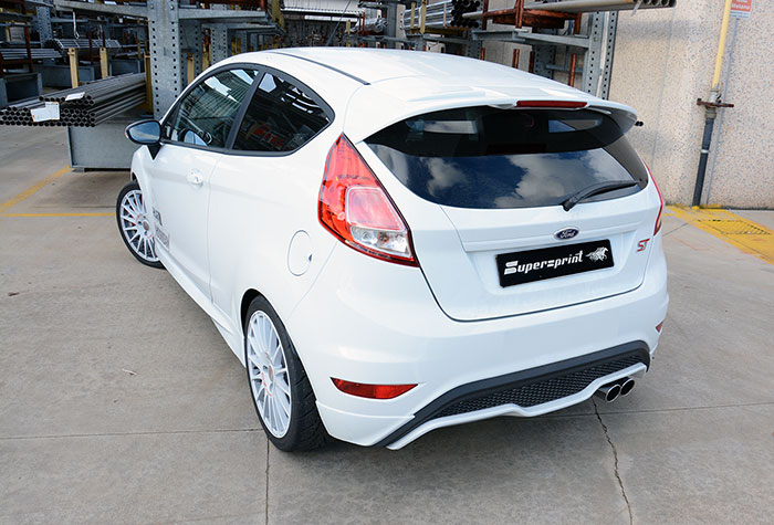FORD FIESTA ST 1.6T (182 PS) '13 –› Supersprint Komplett-Auspuffanlage (826121 + 826102 + 826106)