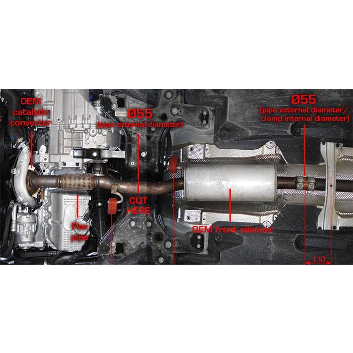 rohrsatz ab turbolader ersatzt der serienkatalysator f r audi a1 1 4 tfsi 3 t rer sportback. Black Bedroom Furniture Sets. Home Design Ideas