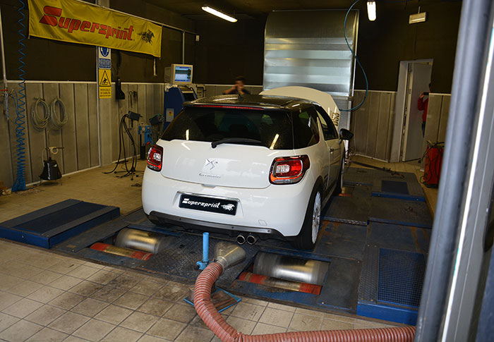CITROEN DS3 RACING THP 1.6i 16v (203 PS) 2011 –› Dyno