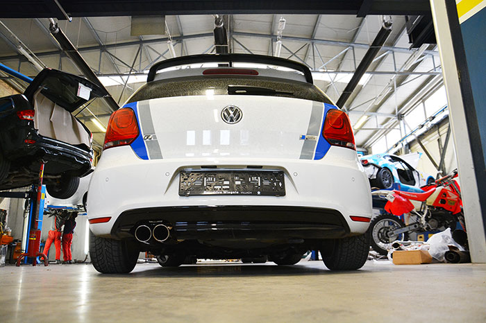 VW POLO R WRC 2.0 TSI (220 PS) 2013 –› Supersprint Komplett-Auspuffanlage