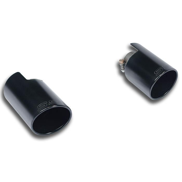 "Audi - AUDI TT Mk3 2.0 TFSI (230 Hp) 2015-> Endpipe kit Right O100 - Left O100 ""Black"", performance exhaust systems"