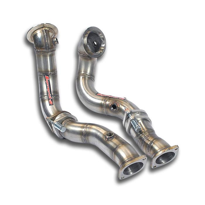BMW - BMW E60 / E61 (Sedan + Touring) 535i Bi-Turbo (304 Hp) '08 -> Turbo downpipe kit Right - Left with expansion joints<br>( Replace pre-kat ), performance exhaust systems