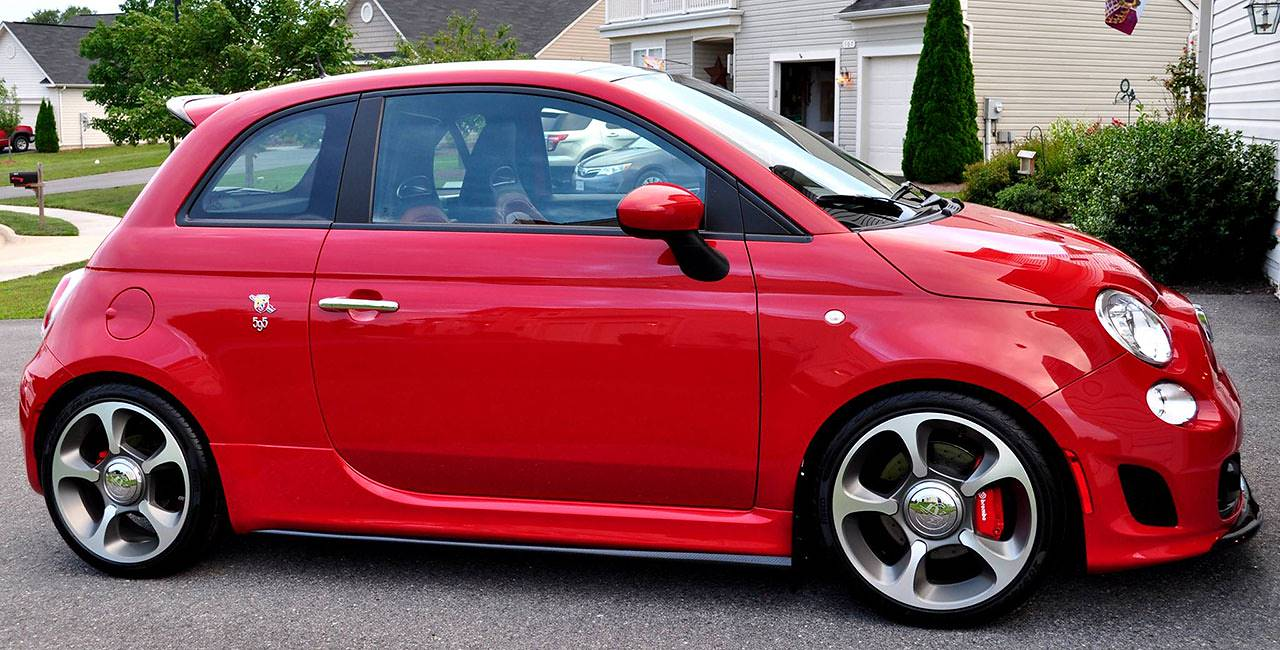 Edwin's Abarth 500 USA fitted with full Supersprint exhaust