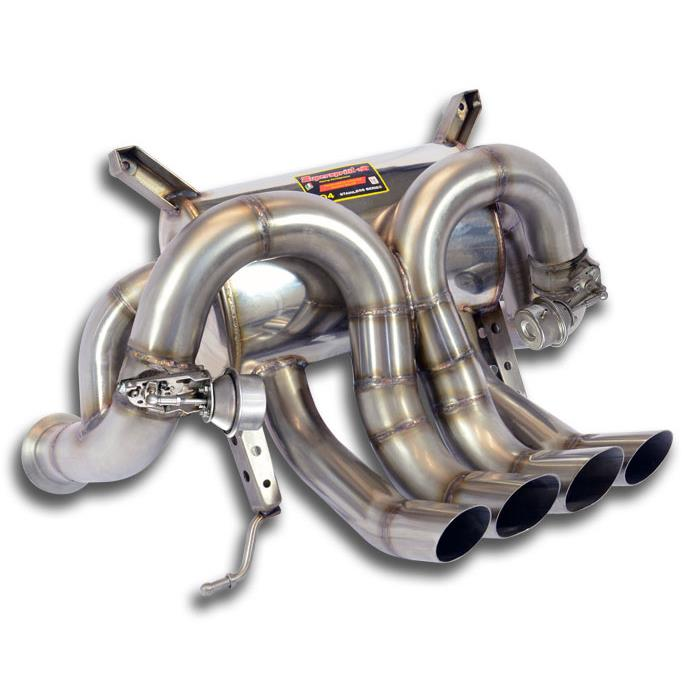 Lamborghini - LAMBORGHINI AVENTADOR LP 700-4 V12 2011 -> Rear exhaust right - left mit valves<br>(Replaces the main catalytic converter), performance exhaust systems