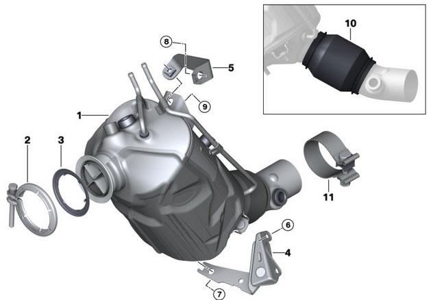 kit downpipe motore b47 euro6 sostituisce fap catalizzatore per bmw f07 gt 520d 525d. Black Bedroom Furniture Sets. Home Design Ideas