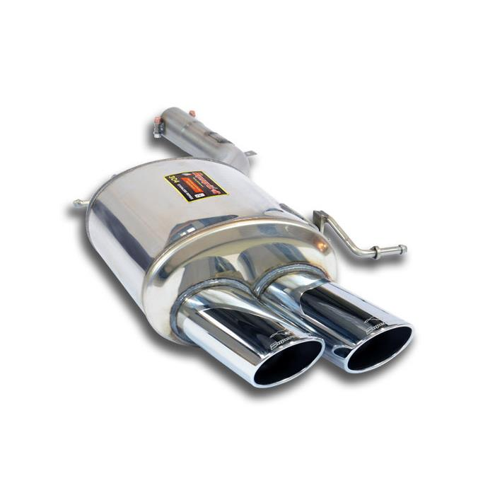 "BMW - BMW F01 / F02 740i (N55 Engine) '09 -> Rear exhaust Left ""Power Loop"" 100x75, performance exhaust systems"