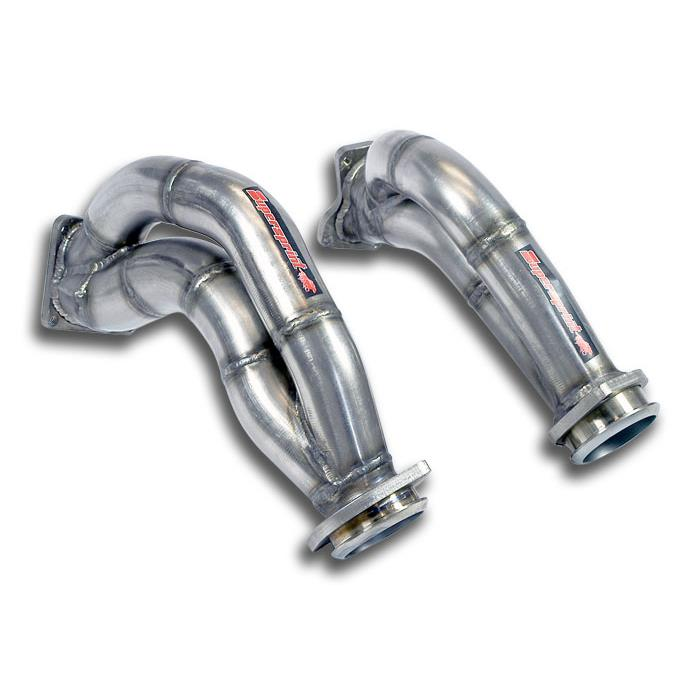 Mercedes AMG - MERCEDES C218 CLS 63 AMG V8 (M157 5.5i Bi-Turbo) (525 Hp-557 Hp) 2012 -> Turbo downpipe kit Right - Left<br>Inconel Alloy, performance exhaust systems