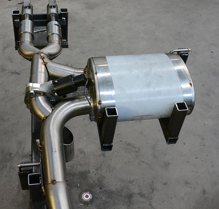Prototype of 832104 Supersprint rear exhaust with valve for Mini F55 Cooper S