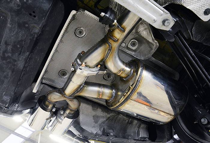 Prototype of 832104 Supersprint rear exhaust with valve for Mini F55 Cooper S + 831826 tailpipes kit OO100mm